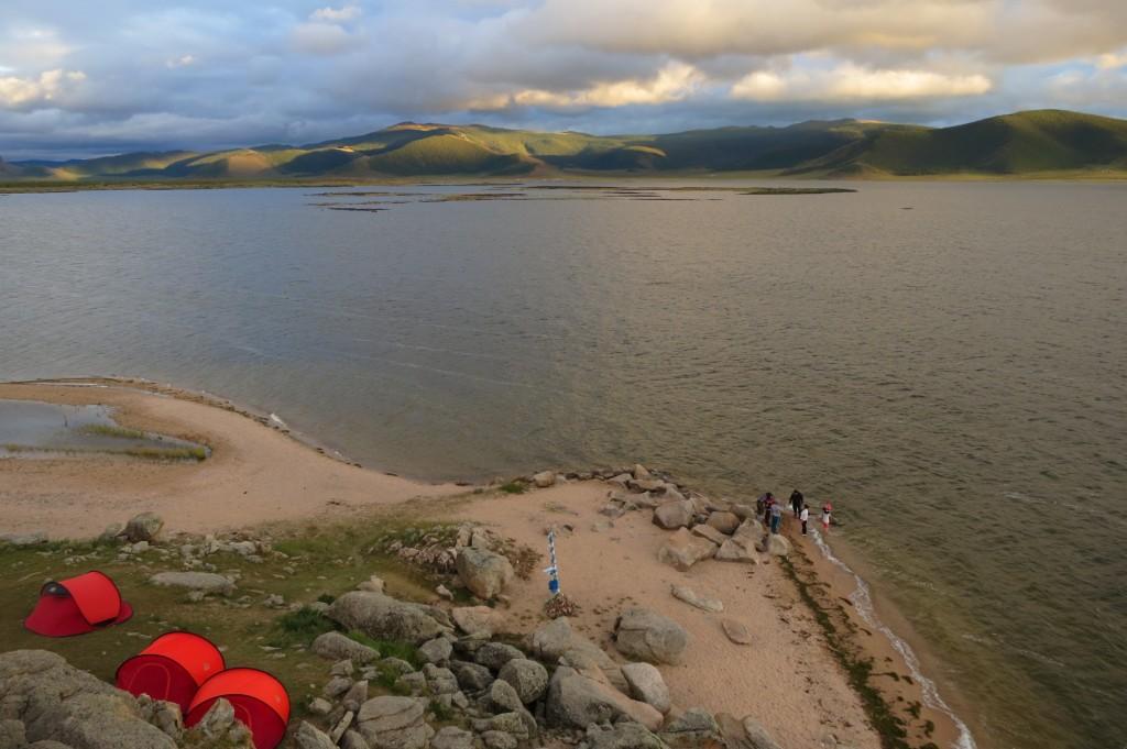 Campsite at Tsagan Nuur