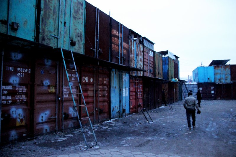 Early Morning: Containers still Closed