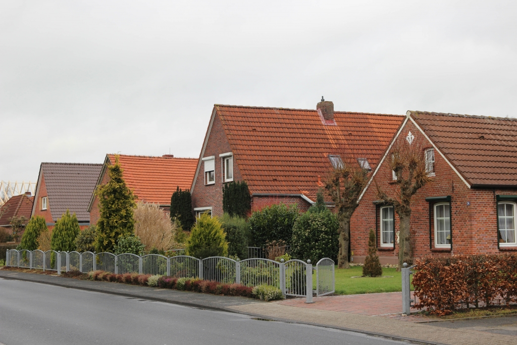 Backsteinhäuser in Norddeich