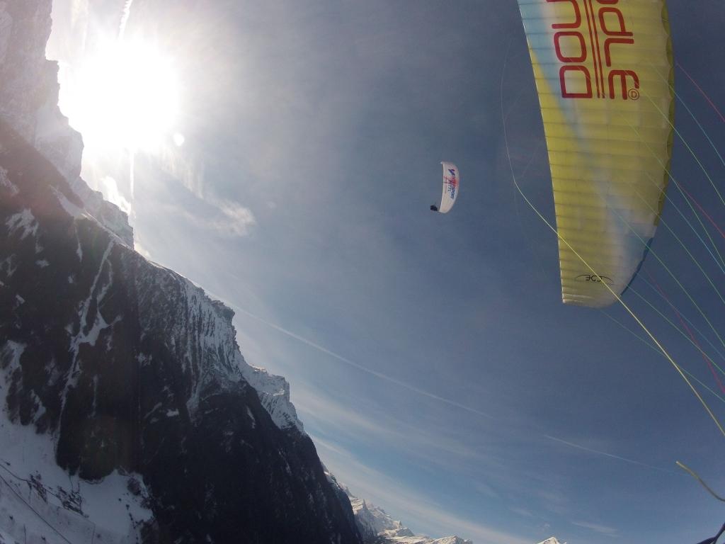 Paragliding - Blick nach oben