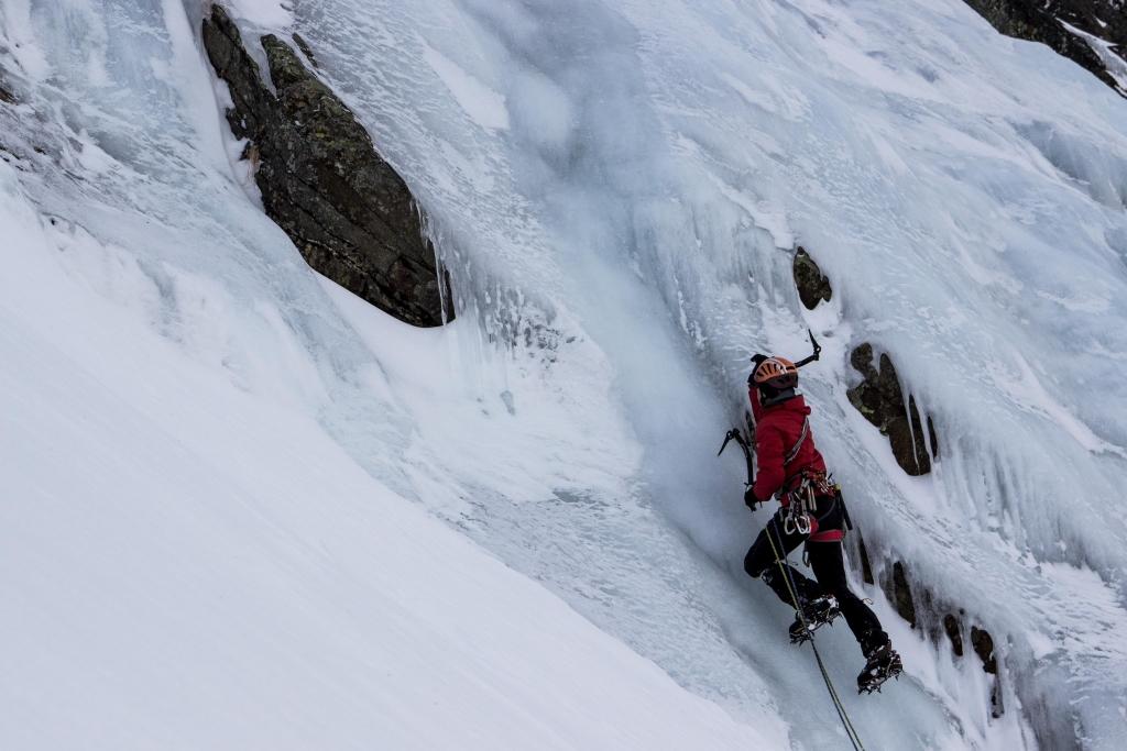 Eisklettern am Tröglerfall