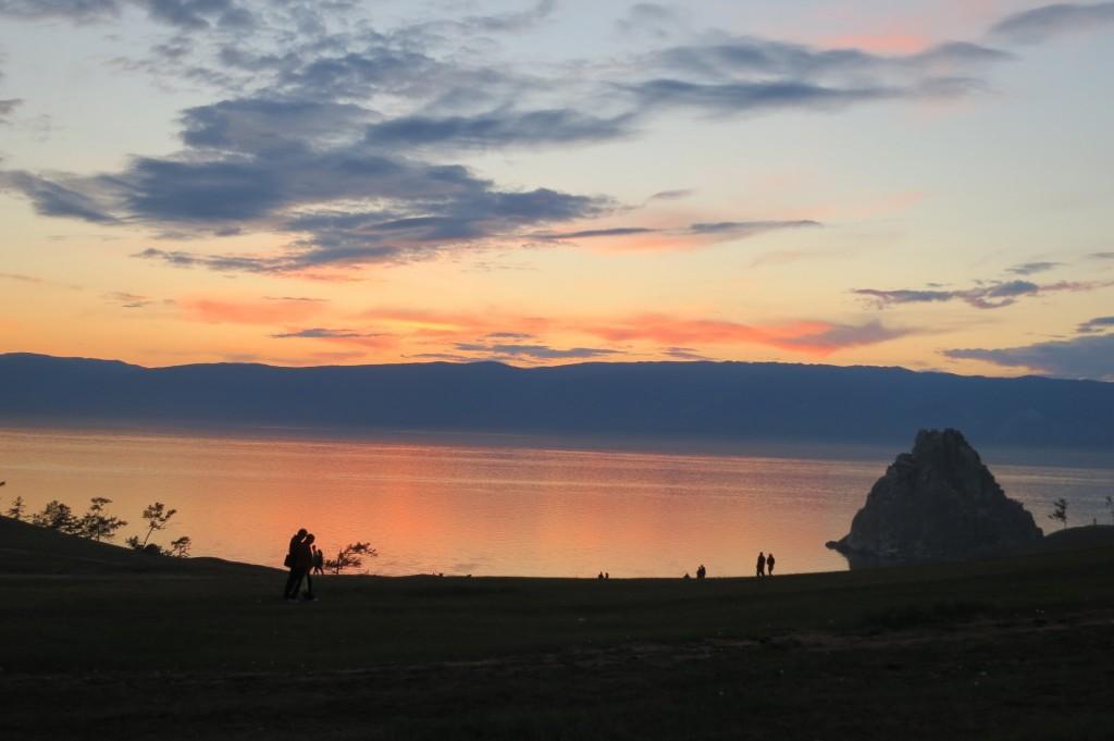 Sunset on Lake Baikal