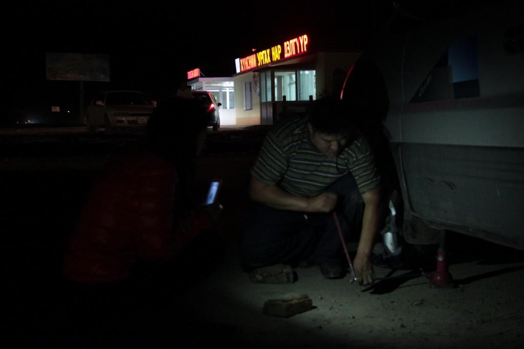 at the tire repair