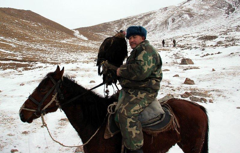 Almazbek with his Eagle