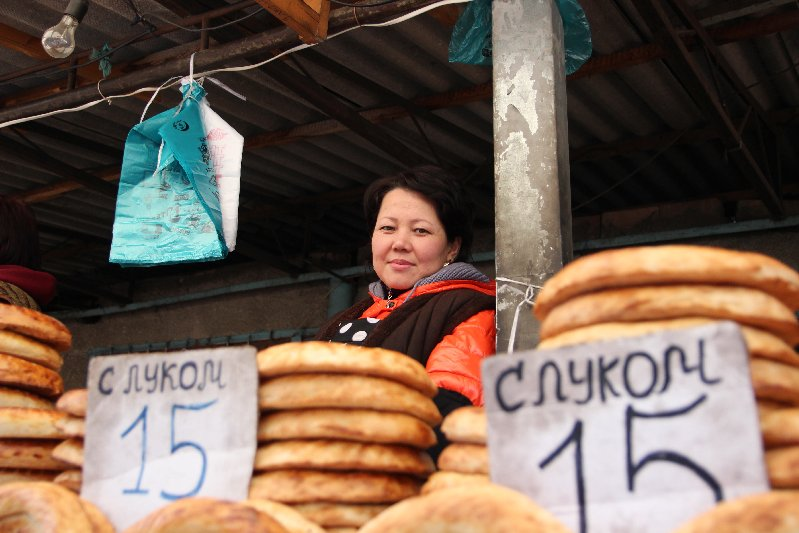 Woman selling Bread