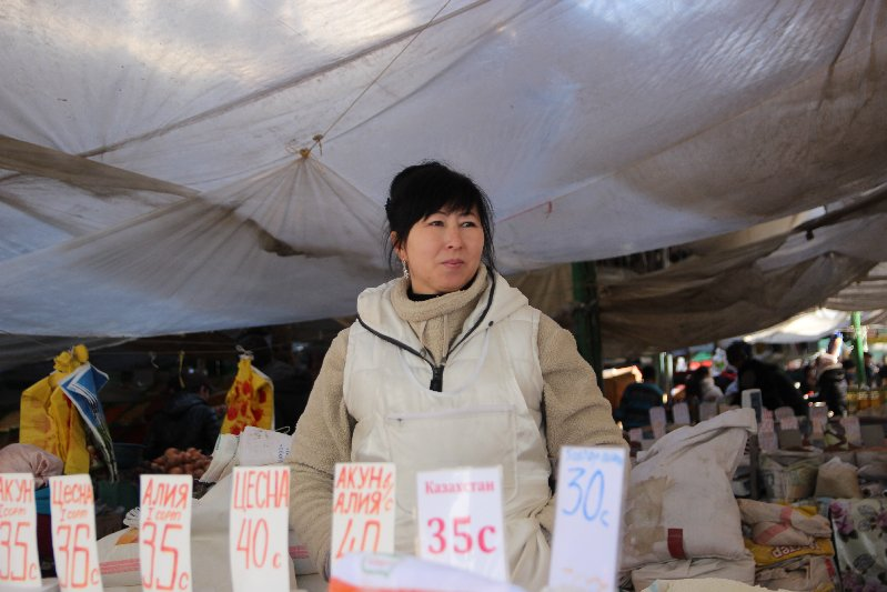 Vendor at Osh Bazaar
